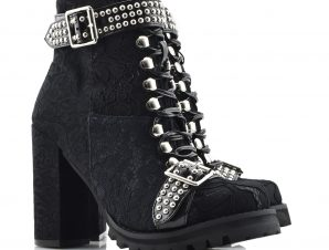 JEFFREY CAMPBELL 40JC080 HEELED LACE UP BOOTS – 0101002105 BLACK