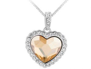 Κολιέ Silver με Swarovski Heart BC10801-CH