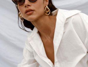 Γυαλιά Ηλίου Με Κοκάλινο Σκελετό Λεοπάρ – Maeve