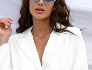 Γυαλιά Ηλίου Με Κοκάλινο Σκελετό Γαλάζια – Maeve