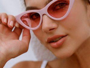 Γυαλιά Ηλίου Με Κοκάλινο Σκελετό Ροζ – Maeve