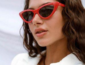 Γυαλιά Ηλίου Με Κοκάλινο Σκελετό Κόκκινα – Maeve